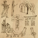 Religious no.10 - Vector pack, hand drawings Royalty Free Stock Images