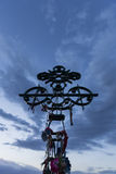 Religious object at the Deceased Correa landmark with blue sunse Stock Photography