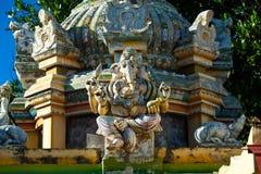 Religious object. Figures of deities Hindu temple facade gopurams Stock Photo