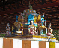 Religious object. Figures of deities Hindu temple facade gopurams royalty free stock photography