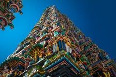 Religious object. Figures of deities Hindu temple facade gopurams Royalty Free Stock Photos