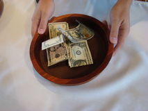 Religious Offering Collection Plate Stock Photography