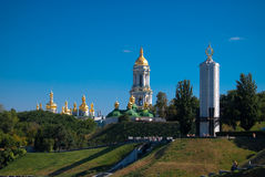 Religious orthodox district in Kyiv Stock Images