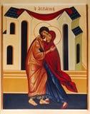 Religious painting stock image