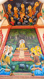 Religious painting at Buddhist temple in Cambodia Royalty Free Stock Photo