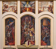 Religious painting in church interior Royalty Free Stock Photos