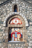Religious painting on facade of the Templar Church Stock Images