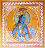 Religious painting on house wall of Mandawa, India Stock Image