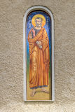 Religious painting. On the monastery wall - Chighis, Brasov, Romania Royalty Free Stock Photos