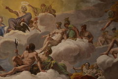 Religious painting in Rome Stock Images