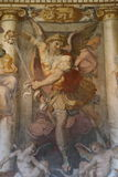 Religious painting in Rome. Decorative painting in the Castel Sant`Angelo in Rome Royalty Free Stock Photography