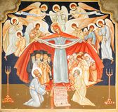 Religious painting. Traditional Romanian religious painting in Orthodox church Royalty Free Stock Images