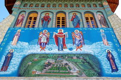 Religious painting on the wall Stock Photography