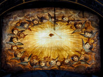Religious painting on wood Royalty Free Stock Images