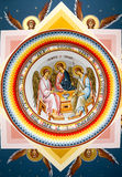 Religious painting XIV. Religious painting representing the Holy Trinity Royalty Free Stock Photography