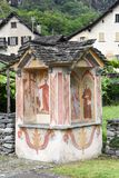 Religious paintings  at Cevio on Maggia valley Royalty Free Stock Images
