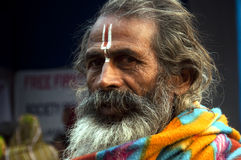 A religious person. Portrait of a religious person looking at the camera,India Stock Photos