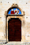 Religious picture at Sulmona Cathedral, Italy Royalty Free Stock Photo