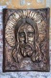 Religious Plaque of Jesus Stock Photo