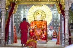 Religious practice  the temple of India worship of Ganish`s God Stock Photo