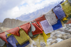 Religious prayer flags Royalty Free Stock Images