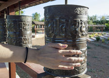 Religious prayer wheels Royalty Free Stock Photography