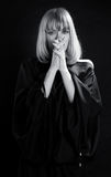 Religious Praying Woman Stock Photography