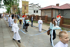 Religious procession at Corpus Christi Day. Stock Photo