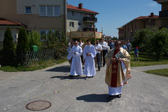 Religious procession at Corpus Christi Day. Royalty Free Stock Photos