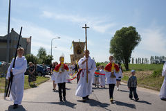 Religious procession at Corpus Christi Day. Stock Photos