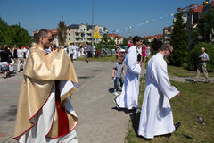 Religious procession at Corpus Christi Day. Stock Images