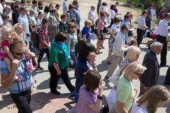 Religious procession at Corpus Christi Day. Royalty Free Stock Photos