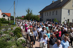 Religious procession at Corpus Christi Day. Royalty Free Stock Image