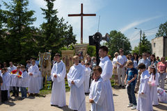Religious procession at Corpus Christi Day. Stock Photography