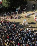 Religious procession at Corpus Christi Day stock image