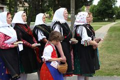 Religious procession, Hungary Royalty Free Stock Photos