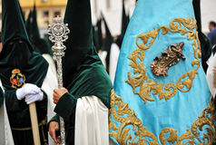 Religious procession in Triana, brotherhood of Hope, Holy Week in Seville, Andalusia, Spain Royalty Free Stock Photography