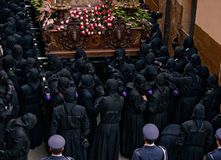 Religious processions in Holy Week. Spain Stock Image
