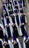 Religious processions in Holy Week. Spain Stock Photos