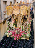 Religious processions in Holy Week. Spain Stock Images