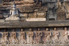 Religious reliefs from the walls of temples royalty free stock photography