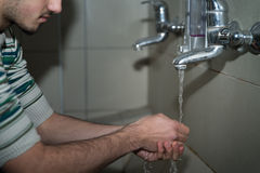 Religious Rite Ceremony Of Ablution Hand Washing Stock Photos