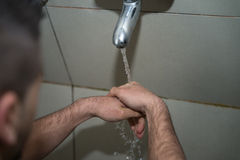 Religious Rite Ceremony Of Ablution Hand Washing Royalty Free Stock Photos