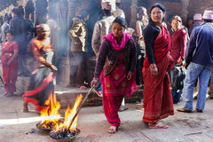 Religious ritual in Nepal Royalty Free Stock Images