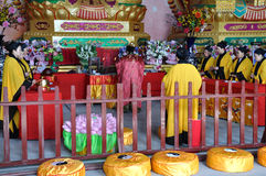 Religious Rituals. Taoist priests were making religious rituals at a Taoist temple in Lingyun Mountain, Nanchong, Sichuan, China stock photography