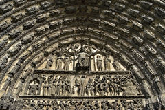 Religious sculptor art cathedral Saint-Etienne Royalty Free Stock Photo