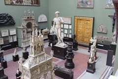 Religious sculpture hall in the Victoria and Albert Museum, London Royalty Free Stock Photos