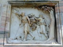 Religious Sculpture, Milan cathedral Royalty Free Stock Images