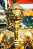 Religious sculpture of the Temple of the Emerald Buddha in Bangkok, Thailand Royalty Free Stock Images