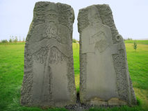 Religious sculptures. Outside Skalholt Cathedral Iceland Stock Photo